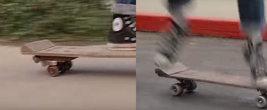 Back to the Future Goofs - Skateboard