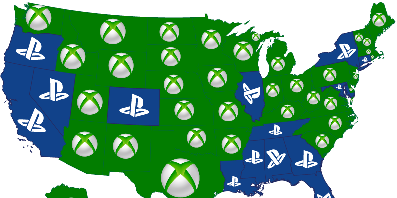 xbox vs playstation which does the us love more