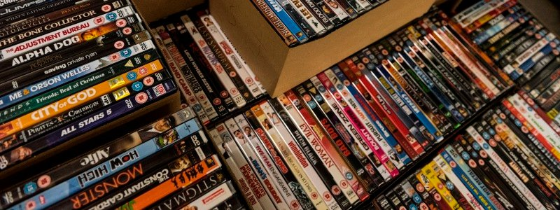 DVDs in boxes image