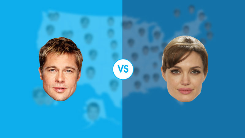 Brad vs Angelina state map