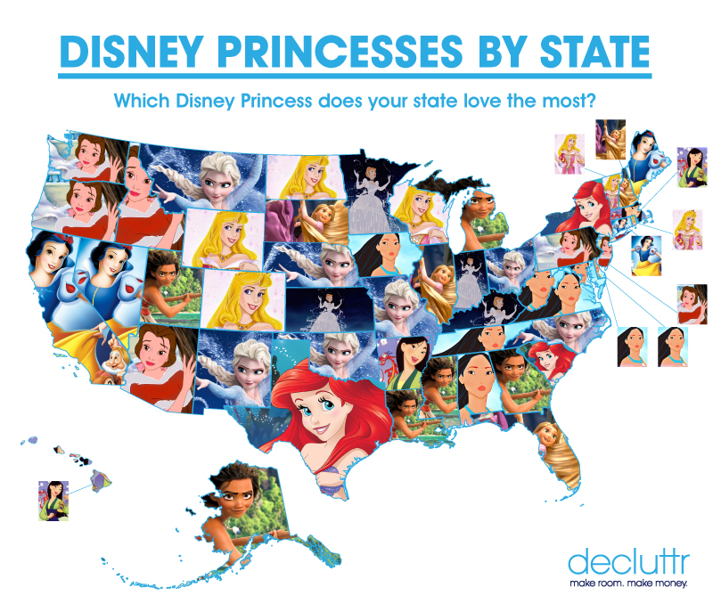 The Most Popular Disney Princesses by State