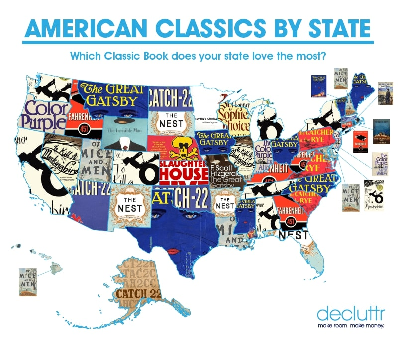 American Classic Books by State