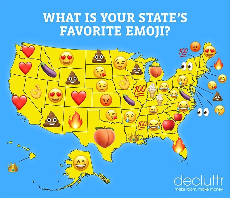 Emoji state map