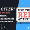 Don't go into the red this Black Friday… Get 10% extra CASH this weekend!