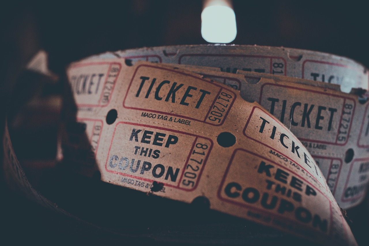 Ticket admission stock image