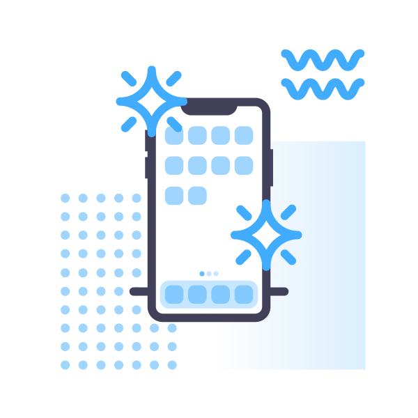 Refurbished phone illustration