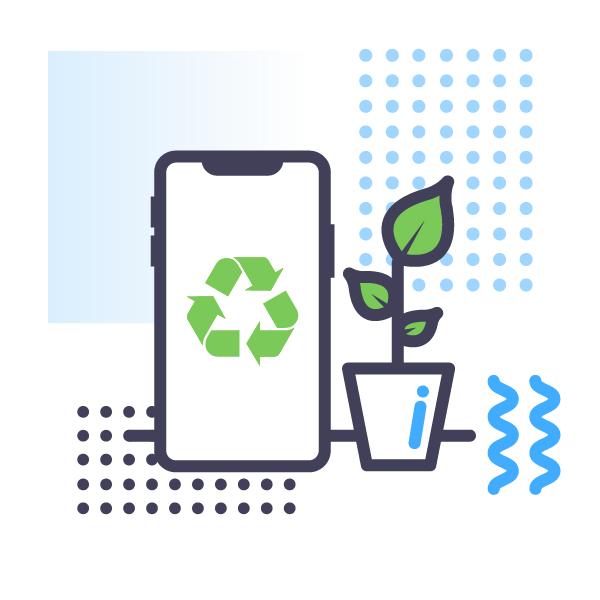 Environmentally-friendly phone